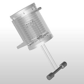 Осевой+крутящий экстензометр для высокой температуры с водяным охлаждением